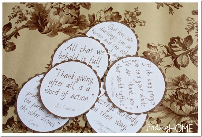 Thanksgiving Quotes Printables