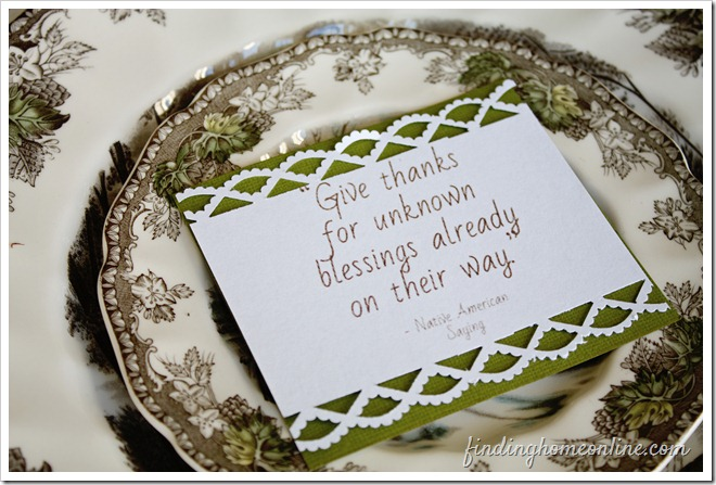 Thanksgiving Table Quotes