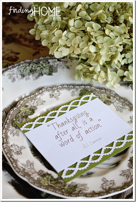 Thanksgiving Table Setting - Lace Detail