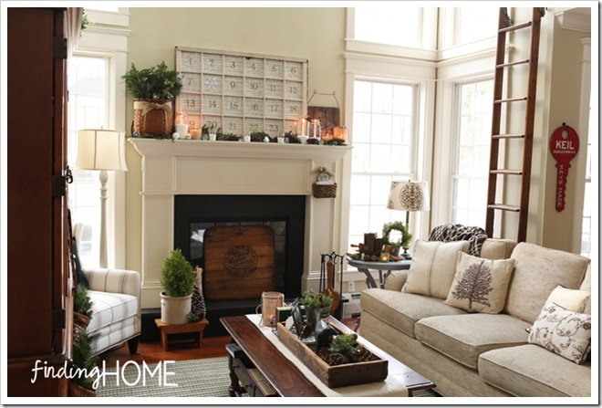 Christmas Family Room at Finding Home