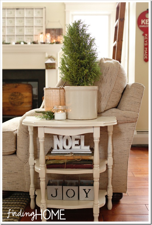 Finding Home Holiday Housewalk Family Room Sidetable