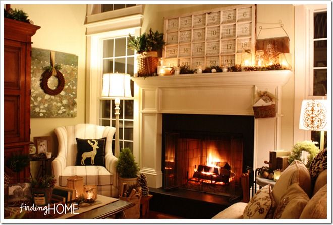 Finding Home Holiday Housewalk Family Room at Night