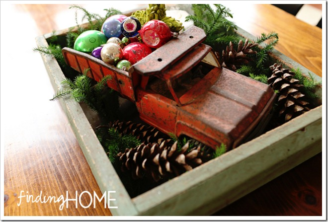 Finding Home Holiday Housewalk Vintage Truck and Ornaments copy