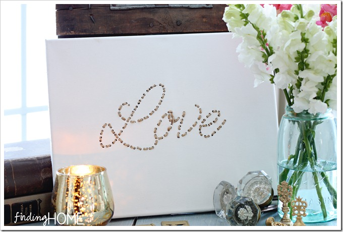 Love: Twine Embroidered Art Canvas Tutorial