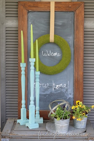 Repurposed – Spindle and Railing Candlesticks