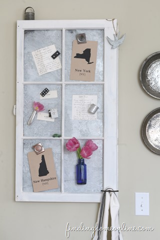 How to Age New Galvanized Metal & Make a Vintage Window Memo Board