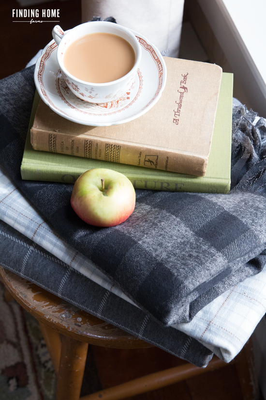 10 Minute Decorating – No-Sew Plaid Flannel Blanket