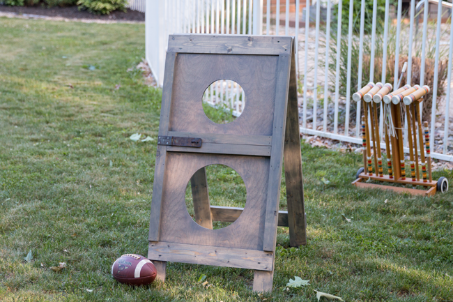 Father's Day Football Toss DIY