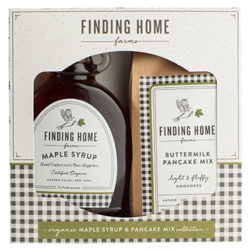 Finding Home Farms Organic Maple Syrup And Pancake Mix Gift Set