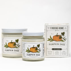 Finding Home Farms Pumpkin Sage Soy Candle Collection
